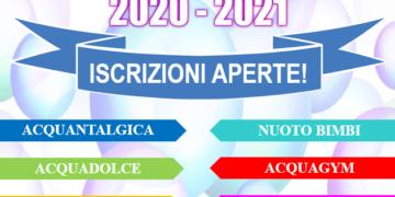 ATTIVITA' IN PISCINA STAGIONE 2020-2021